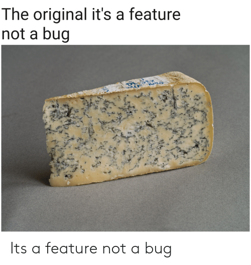Bug, The Original, and Its A: The original it's a feature  not a bug Its a feature not a bug