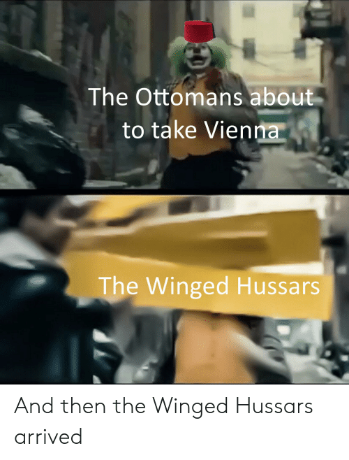 History, Vienna, and Ottomans: The Ottomans about  to take Vienna  The Winged Hussars And then the Winged Hussars arrived