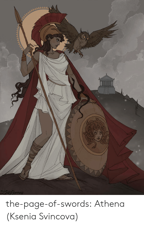 Target, Tumblr, and Athena: the-page-of-swords: Athena (Ksenia Svincova)