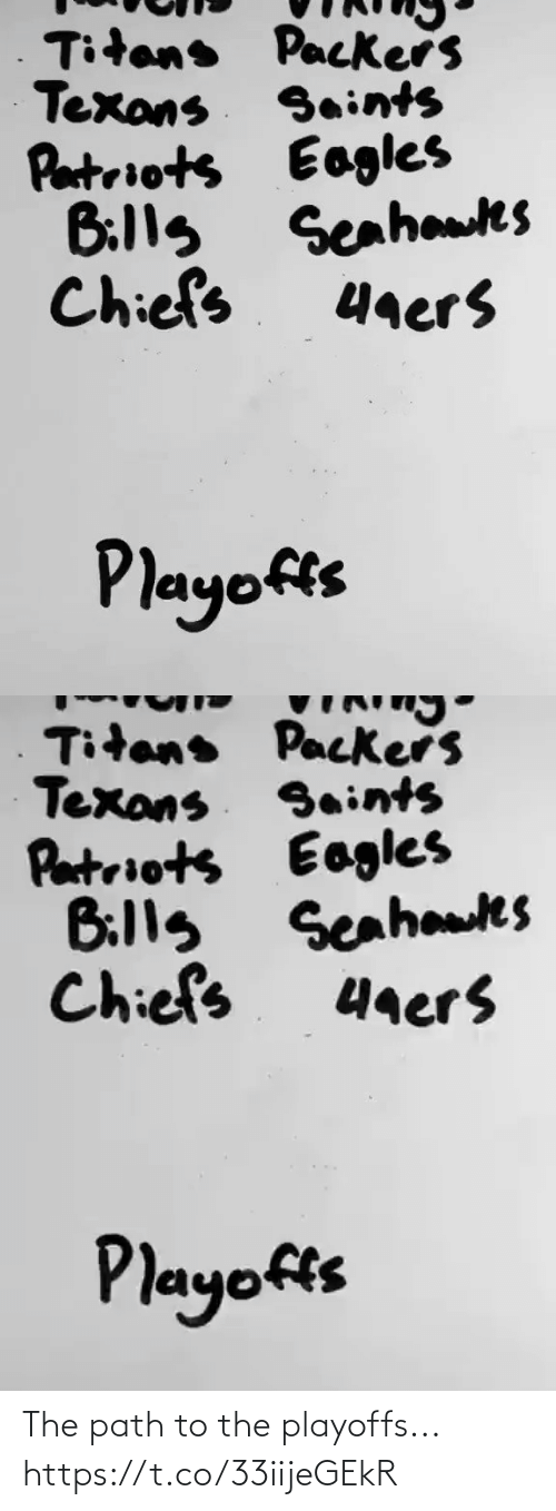 Football: The path to the playoffs... https://t.co/33iijeGEkR
