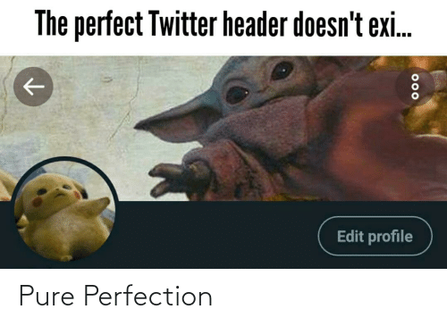 perfection: The perfect Twitter header doesn't exi.  Edit profile  000 Pure Perfection