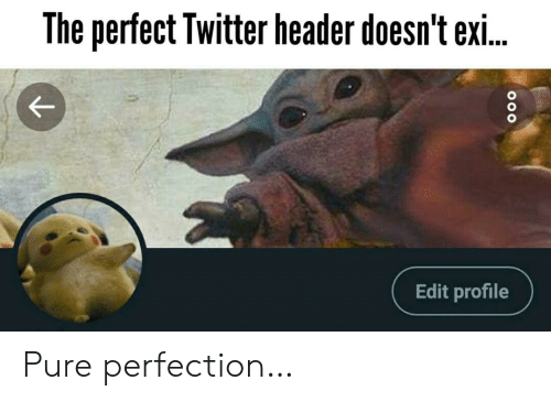 Twitter, Edit, and Pure: The perfect Twitter header doesn't exi..  Edit profile Pure perfection…