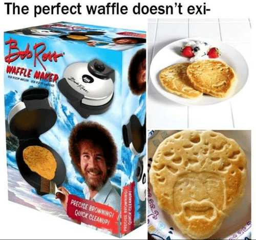 Dank, 🤖, and Browning: The perfect waffle doesn't exi-  PRECISE BROWNING  QUICK CLEANUPI