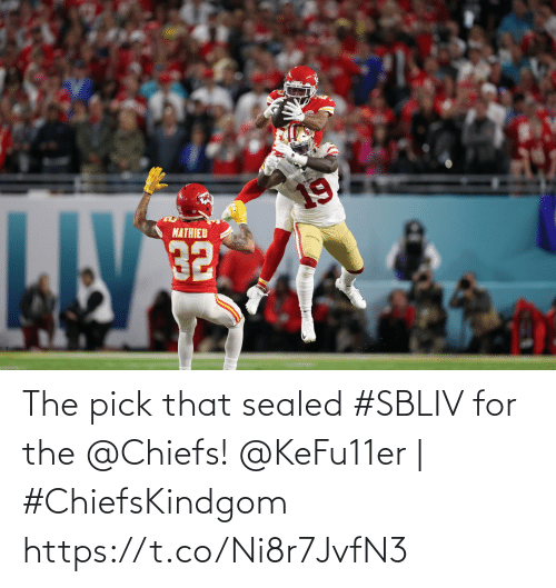 Chiefs: The pick that sealed #SBLIV for the @Chiefs!  @KeFu11er | #ChiefsKindgom https://t.co/Ni8r7JvfN3