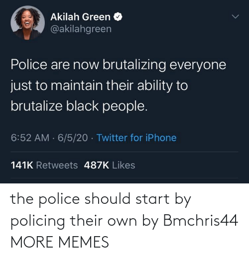 own: the police should start by policing their own by Bmchris44 MORE MEMES