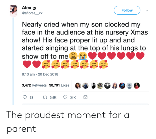 moment: The proudest moment for a parent