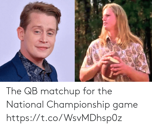 For The: The QB matchup for the National Championship game https://t.co/WsvMDhsp0z