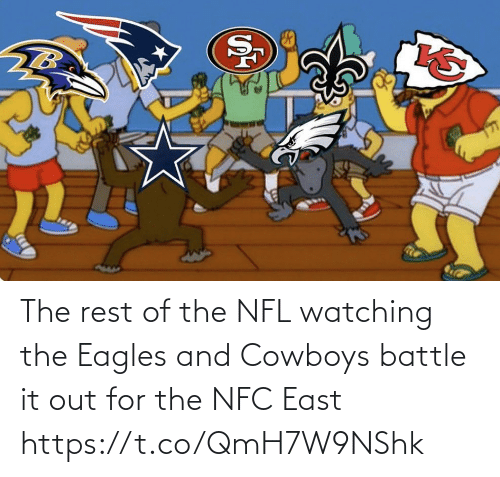 It Out: The rest of the NFL watching the Eagles and Cowboys battle it out for the NFC East https://t.co/QmH7W9NShk