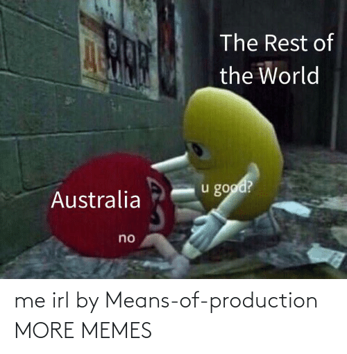 The Rest: The Rest of  the World  u good?  Australia  no me irl by Means-of-production MORE MEMES