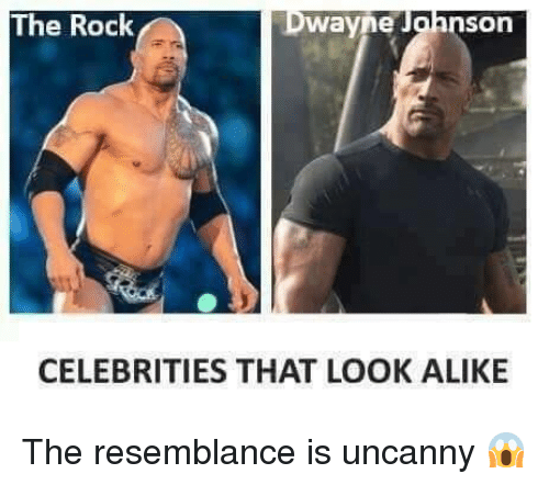 the resemblance is uncanny: The Rock  nSon  Wayne  CELEBRITIES THAT LOOK ALIKE The resemblance is uncanny 😱