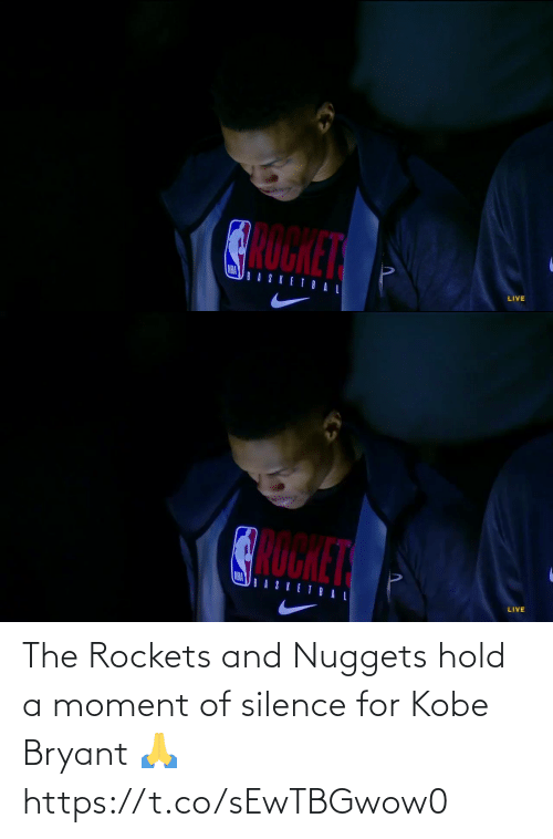 Kobe Bryant: The Rockets and Nuggets hold a moment of silence for Kobe Bryant 🙏 https://t.co/sEwTBGwow0