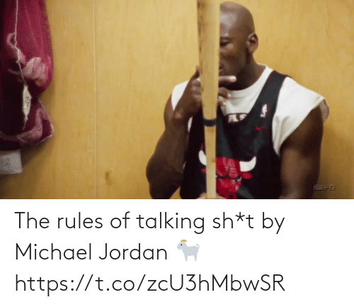 talking: The rules of talking sh*t by Michael Jordan 🐐 https://t.co/zcU3hMbwSR