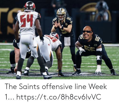 New Orleans Saints: The Saints offensive line Week 1... https://t.co/8h8cv6lvVC
