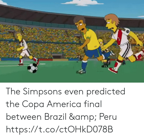 America, Memes, and The Simpsons: The Simpsons even predicted the Copa America final between Brazil & Peru https://t.co/ctOHkD078B