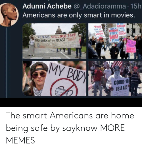 smart: The smart Americans are home being safe by sayknow MORE MEMES