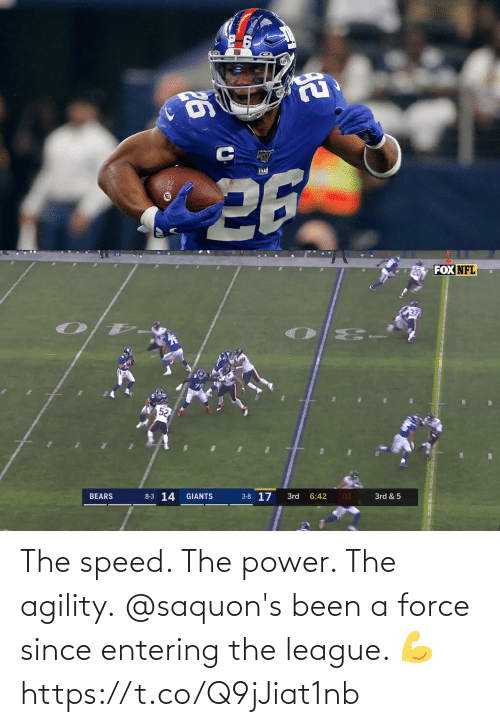 Power: The speed. The power. The agility.  @saquon's been a force since entering the league. 💪 https://t.co/Q9jJiat1nb
