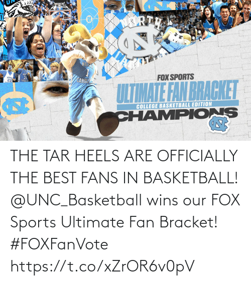 heels: THE TAR HEELS ARE OFFICIALLY THE BEST FANS IN BASKETBALL!  @UNC_Basketball wins our FOX Sports Ultimate Fan Bracket! #FOXFanVote https://t.co/xZrOR6v0pV