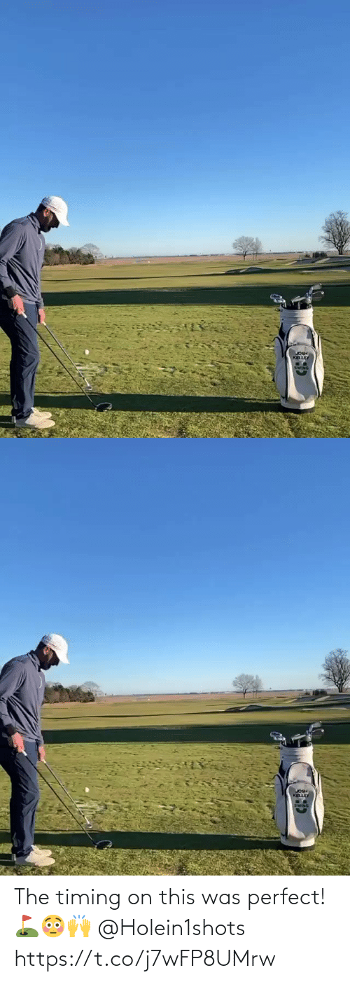 perfect: The timing on this was perfect! ⛳️😳🙌 @Holein1shots https://t.co/j7wFP8UMrw