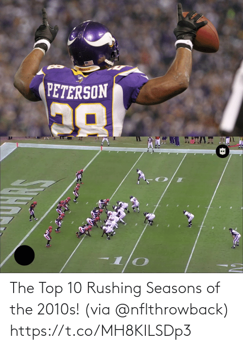 rushing: The Top 10 Rushing Seasons of the 2010s! (via @nflthrowback) https://t.co/MH8KILSDp3