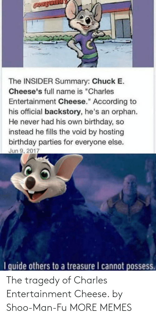 entertainment: The tragedy of Charles Entertainment Cheese. by Shoo-Man-Fu MORE MEMES