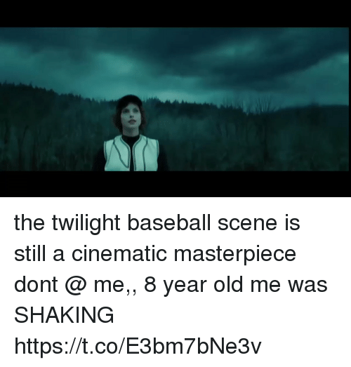 Baseball, Twilight, and Girl Memes: the twilight baseball scene is still a cinematic masterpiece dont @ me,, 8 year old me was SHAKING https://t.co/E3bm7bNe3v