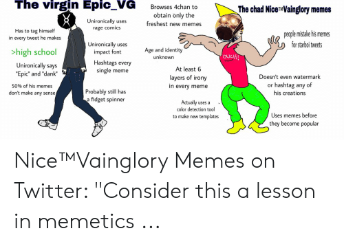 The Virgin Epic_VG Browses 4chan to the Chad NiceTMVainglory Memes