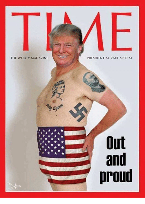 Proud, Race, and Magazine: THE WEEKLY MAGAZINE  PRESIDENTIAL RACE SPECIAL  Out  and  proud