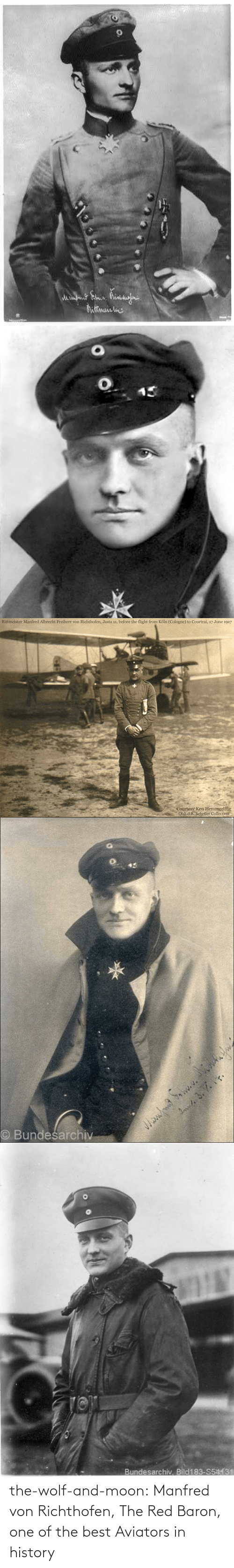one of the best: the-wolf-and-moon:  Manfred von Richthofen, The Red Baron, one of the best Aviators in history