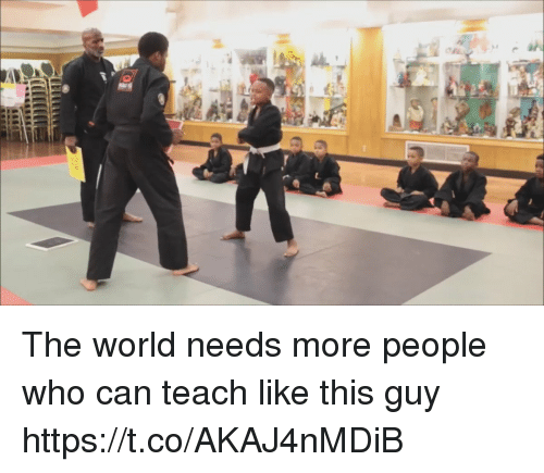 Funny, World, and Who: The world needs more people who can teach like this guy https://t.co/AKAJ4nMDiB