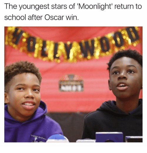 moonlighting: The youngest stars of Moonlight return to  school after Oscar win