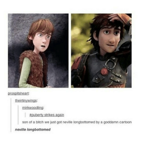 Longbottomed: theirtinywings:  mirkwoodling:  Epuberty trike  again  son of a bitch we just got neville longbottomed by a goddamn cartoon  neville longbottomed