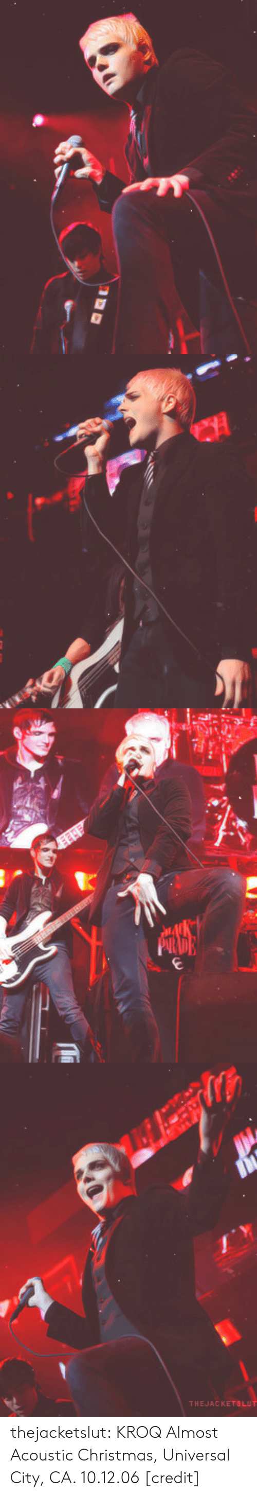 Christmas, Tumblr, and Blog: thejacketslut:  KROQ Almost Acoustic Christmas, Universal City, CA. 10.12.06 [credit]