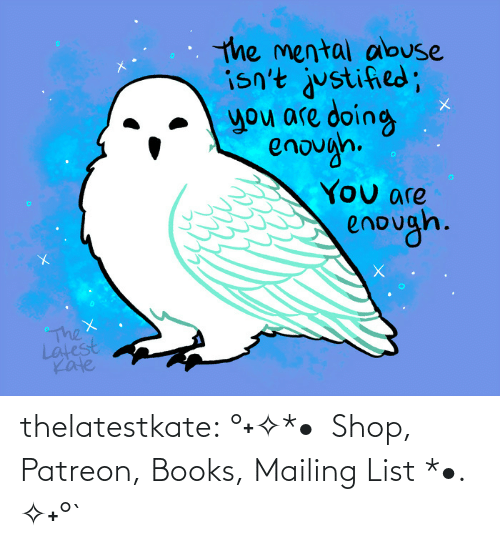 Got This: thelatestkate:    °˖✧*•  Shop, Patreon, Books, Mailing List *•. ✧˖°`