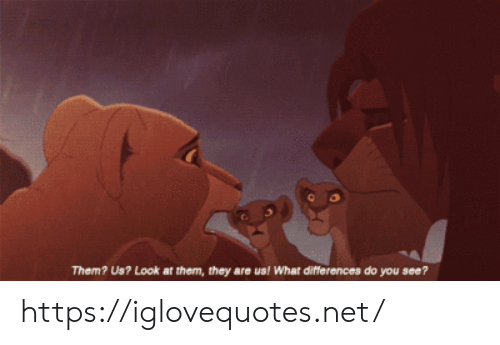 Net, Them, and They: Them? Us? Look at them, they are us! What differences do you see? https://iglovequotes.net/