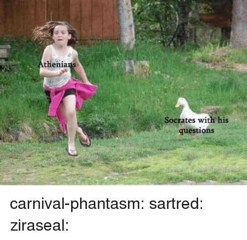 Socrates: thenia  Socrates with his  questions carnival-phantasm: sartred:  ziraseal: