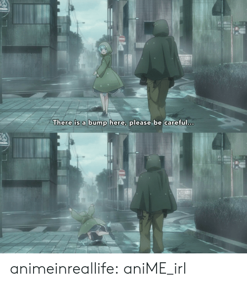 Anime, Tumblr, and Blog: There is a bump here, please be careful.c. animeinreallife:  aniME_irl