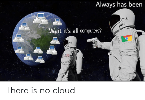 there: There is no cloud