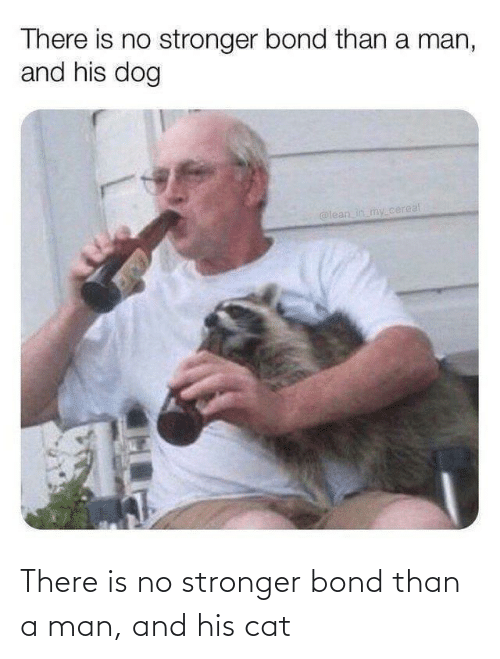 A Man: There is no stronger bond than a man, and his cat