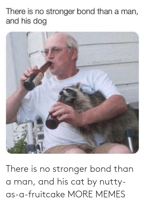 bond: There is no stronger bond than a man, and his cat by nutty-as-a-fruitcake MORE MEMES
