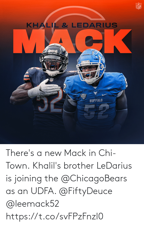 chi: There's a new Mack in Chi-Town.  Khalil's brother LeDarius is joining the @ChicagoBears as an UDFA. @FiftyDeuce @leemack52 https://t.co/svFPzFnzl0