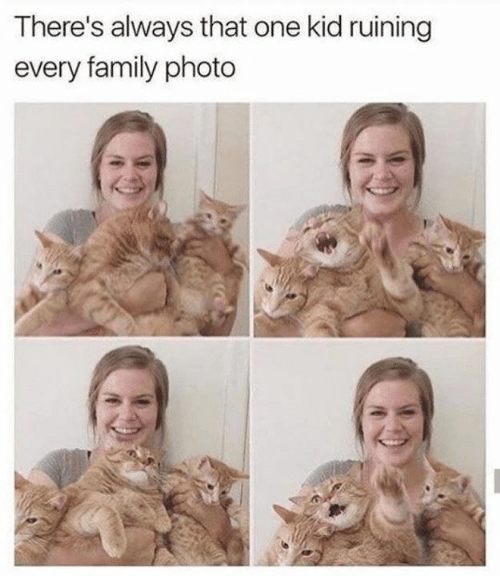 Family, Memes, and 🤖: There's always that one kid ruining  every family photo