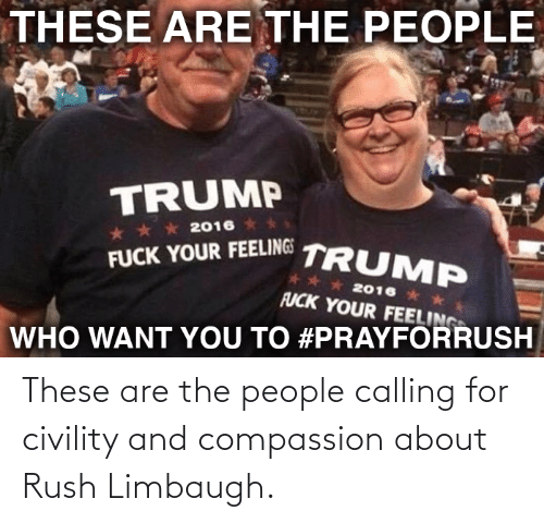 Civility: These are the people calling for civility and compassion about Rush Limbaugh.