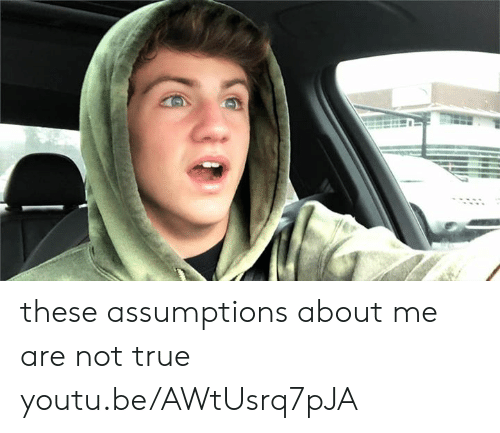 Dank, True, and Youtu: these assumptions about me are not true youtu.be/AWtUsrq7pJA