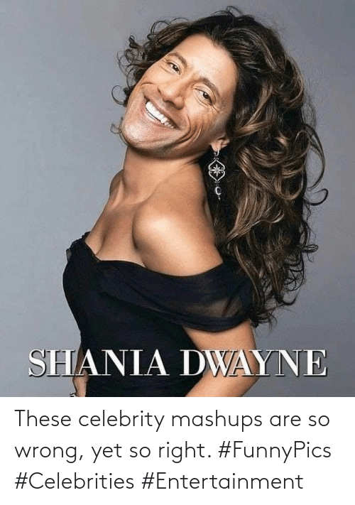 entertainment: These celebrity mashups are so wrong, yet so right. #FunnyPics #Celebrities #Entertainment