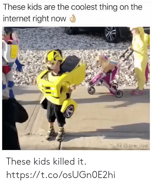 Funny, Internet, and Kids: These kids are the coolest thing on the  internet right now  IG: @davie dave These kids killed it. https://t.co/osUGn0E2hi