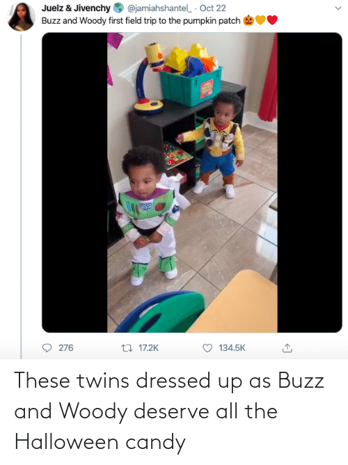Twins: These twins dressed up as Buzz and Woody deserve all the Halloween candy
