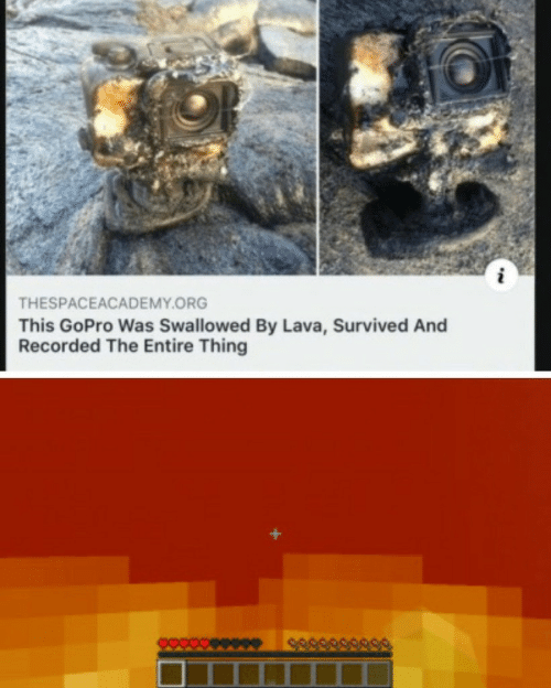 survived: THESPACEACADEMY.ORG  This GoPro Was Swallowed By Lava, Survived And  Recorded The Entire Thing  589