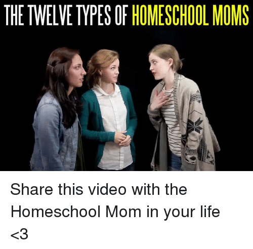 Memes, Homeschool, and Mom: THETWELVE TYPES OF HOMESCHOOL MOMS Share this video with the Homeschool Mom in your life <3