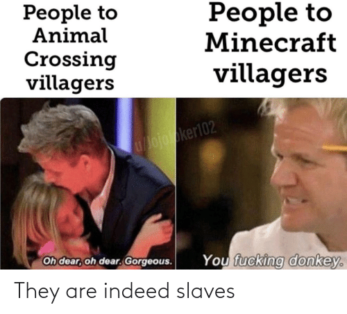 Indeed: They are indeed slaves