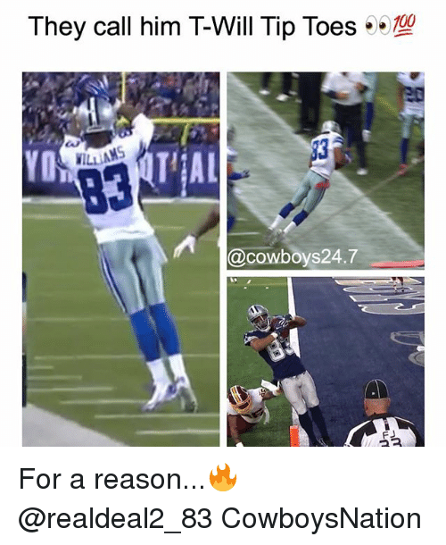 Cowboysnation: They call him T-Will Tip Toes  YO  ILLIAMS  @cowboys24.7 For a reason...🔥 @realdeal2_83 CowboysNation